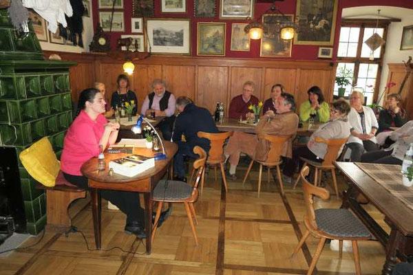 6 Kulturkreis Vellberg  Lesung mit Sabine Olbrich  15.März 2015  Gasthof Ochsen, Vellberg