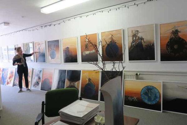 """8 Kulturkreis Vellberg  Atelierbesuch bei Gerhard Frank, Crailsheim, 19. April 2015, """"Abstrakt und Real"""""""