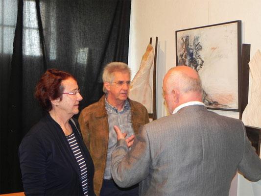 Kulturkreis Vellberg, Atelierbesuch beim Bildhauer Rudolf Kurz in Ellwangen, April 2014