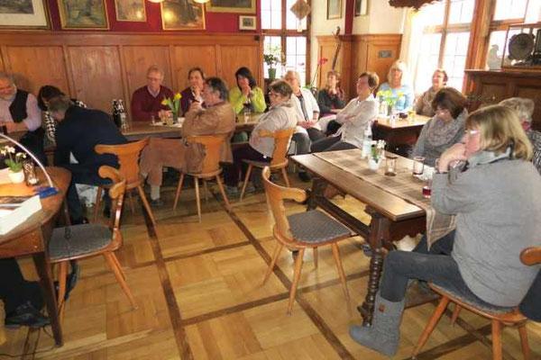 7 Kulturkreis Vellberg  Lesung mit Sabine Olbrich  15.März 2015  Gasthof Ochsen, Vellberg