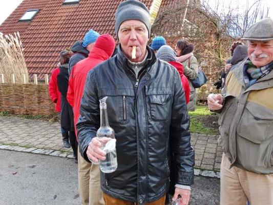Kulturkreis Vellberg  Winterwanderung 2015  Einkehr Waldbuch