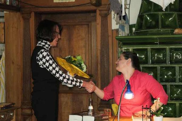 2 Kulturkreis Vellberg  Lesung mit Sabine Olbrich  15.März 2015  Gasthof Ochsen, Vellberg