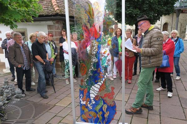 """Kulturkreis Vellberg, Kunst und Kulisse, """"Die Welt dahinter"""" von Dagmar Sanwald"""