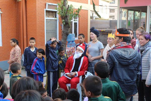 und der Weihnachtmann durfte natürlich auch nicht fehlen...