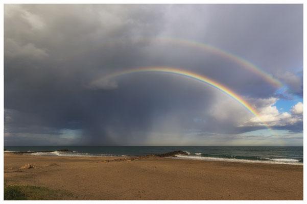 doppelter Regenbogen an der Côte d'Azur