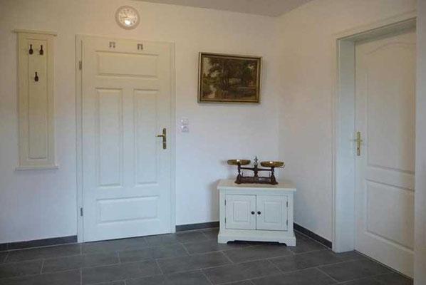 Ein liebevoll dekorierter Eingangsbereich.