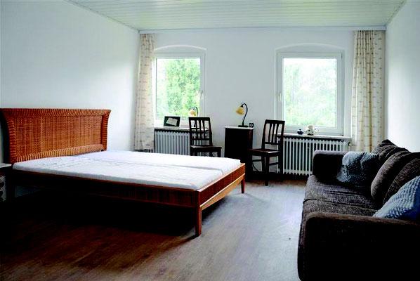 Das Schlafzimmer für 2 bis 3 Personen.