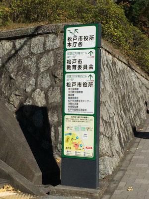松戸市役所看板