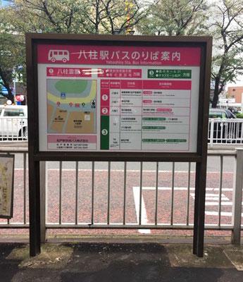 バス乗り場案内サイン