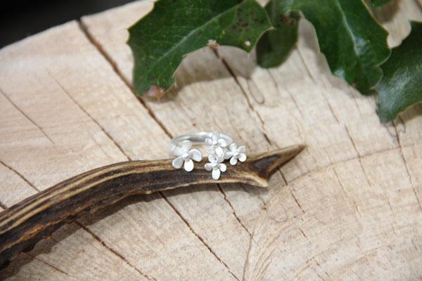 Ring Blüten 925 Sterling Silber 79,-€