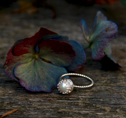 Ring mit Perle  925 Sterling Silber 65,-€