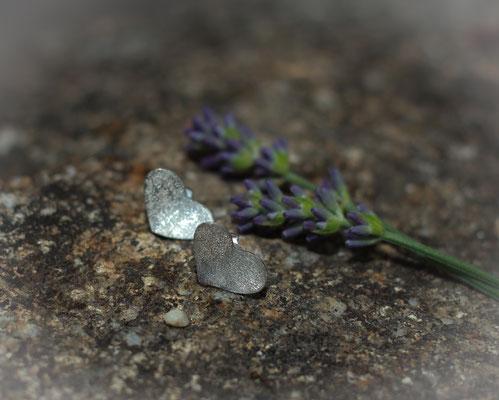 Ohrringe Herzstecker diamantiert 925 Sterling Silber 55,-