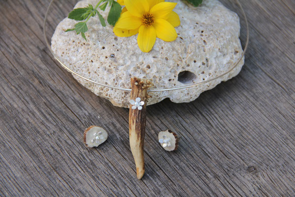 Ohrringe Horn/Blume 925 Sterling Silber  45,-€