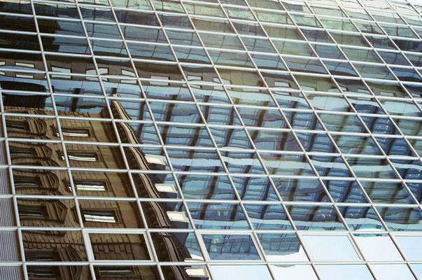 Frankfurt reflected Photo by Eva Suba