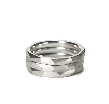 Lovestory stackable Rings in silver