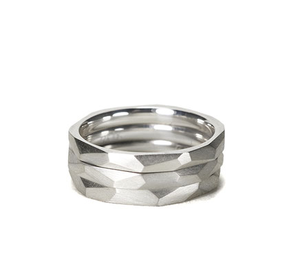 Lovestory stackable Rings in silver