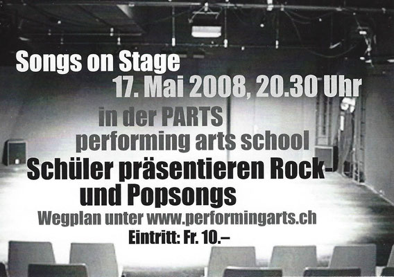 2008 KONZERT - SONGS ON STAGE