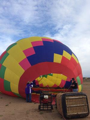 トレーニング用に貸してもらった気球