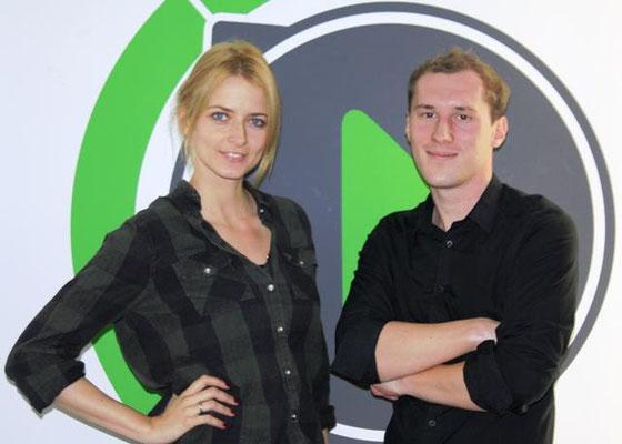 Dominik Kollmann mit Eva Padberg