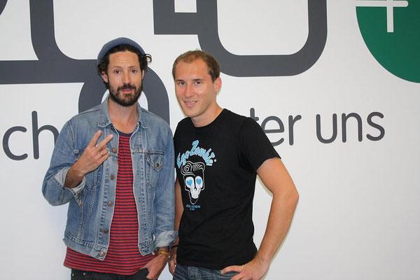 Dominik Kollmann mit Max Herre
