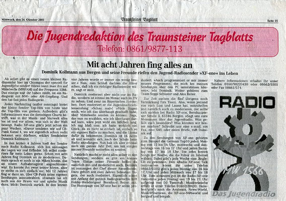 Dominik Kollmann im Traunsteiner Tagblatt