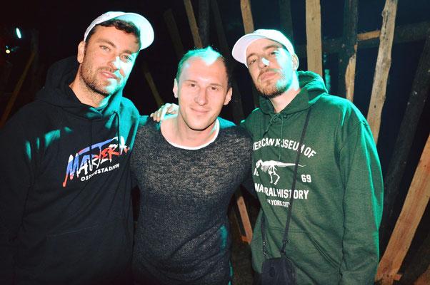 Dominik Kollmann mit Marteria & Casper