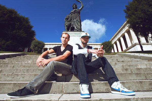 Dominik Kollmann mit Phillip Frost