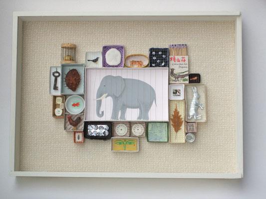 La memoria dell'elefante 2010 30x40x4 cm
