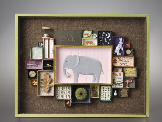 La memoria dell'elefante 2010 - 36x45x6 cm