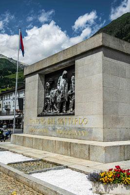 Denkmal Bau Gotthard Eisenbahntunnel 1882