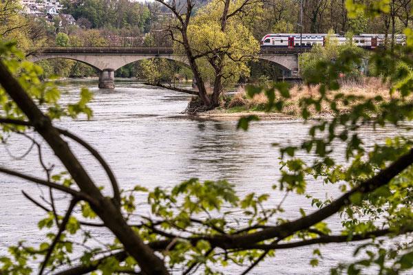 Blick auf Mündung der Reuss