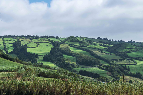 Ausblick vom Miradouro do Escavaldo (Hochland)