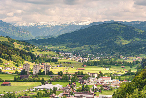 Burg Iberg Wattwil, Blick nach Ebnat-Kappel