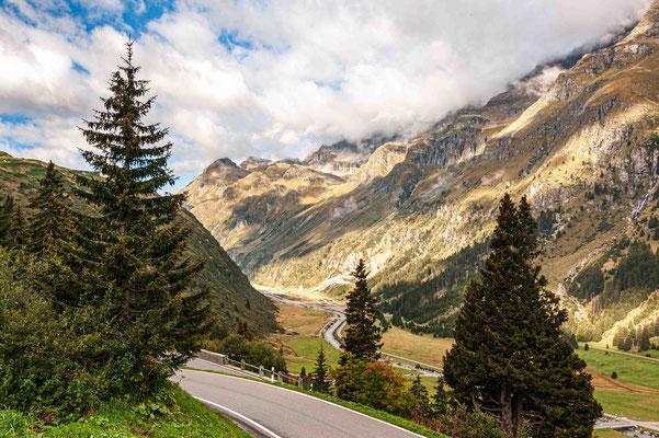 Blick talaufwärts ab Bernardino Pass