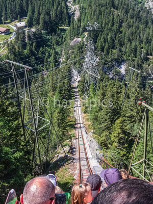 auf der Gelmerbahn, Blick zur Talstation