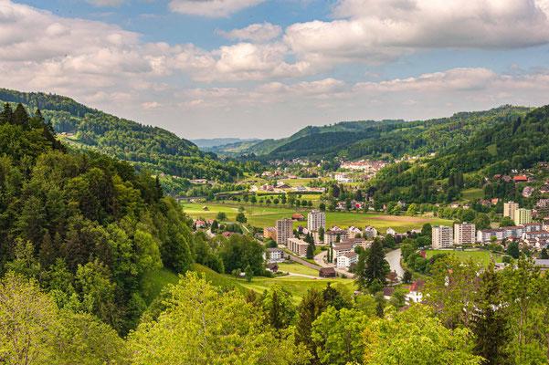 Burg Iberg Wattwil, Blick nach Lichtensteig