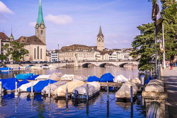 Zürich, Frauenkirche und St. Peter