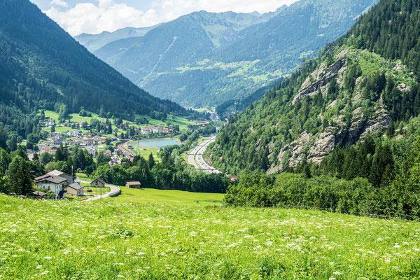 Blick talaufwärts von Prato
