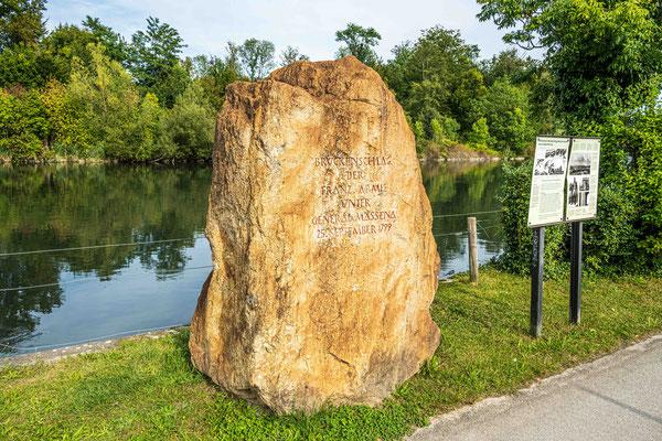 Gedenkstein Flussübergang Massena 1799