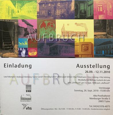 """Einladungskarte zur Ausstellung """"Aufbruch"""" 2010"""