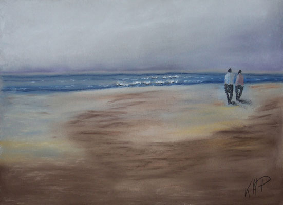 Am Strand in Pastell