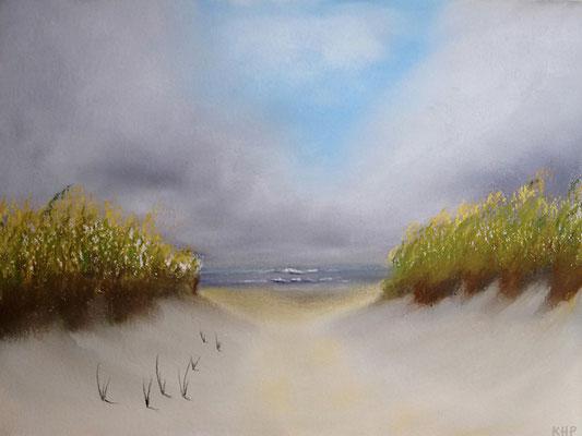 Dünenlandschaft in Pastell