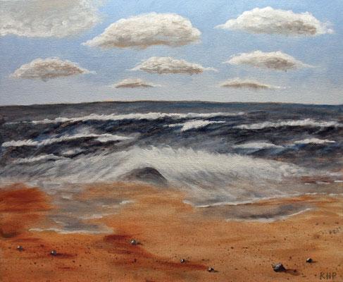 Stürmische Nordsee in Acryl