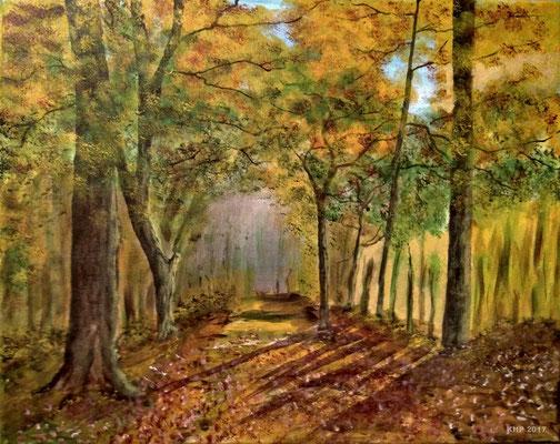 Herbstwald  Acryl auf Keilrahmen  50 x 40 cm