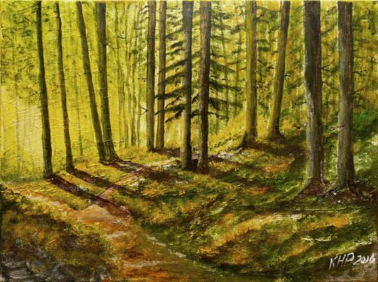 Wald  Acryl auf Keilrahmen 40 x 30 cm