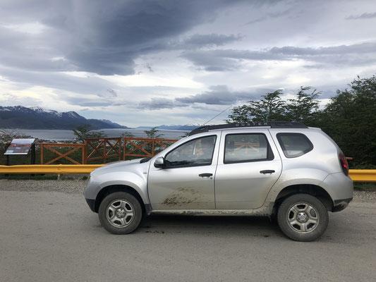 Unser Auto in Ushuaia: Ein Duster