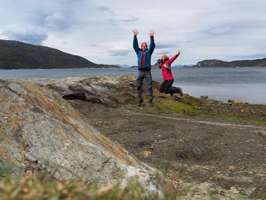 Weg zu Ende - hier ist das berühmte Ende der Panamericana, die von Alaska bis nach Feuerland führt