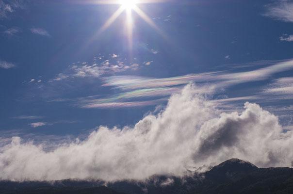 この日現れた彩雲!この写真を出羽三山神社あに奉納することになる!