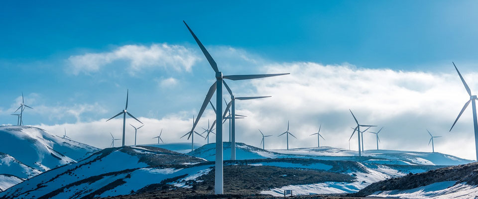 Wind Turbines with advanced composite blades, operating in arctic environments.