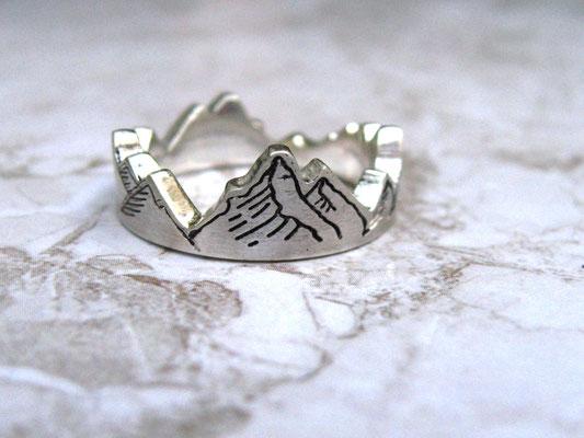 Ring mit Bergmotiv, Berg-Ring, Berg Ring